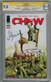 Chew #1 CGC 9.8 Signature Series Signed John Layman Rob Guillory Savoy Sketch Image comic